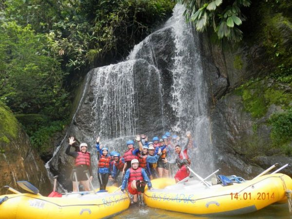 Rafting waterfall adventure