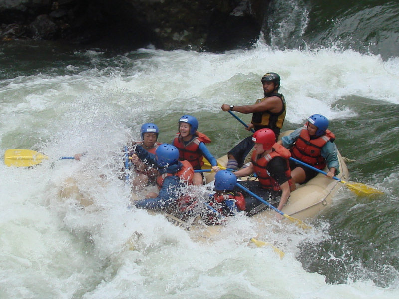 One day withewater rafting