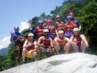 Rafting group Upper Napo