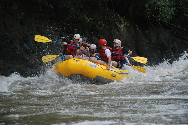 Rafting adventure in ecuador