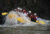 Withewater rafting near quito