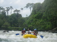 Rafting rapids in Ecuador