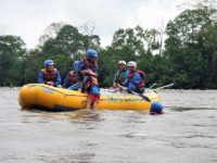 Rafting river floating Ecuador